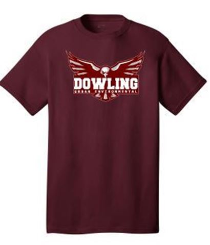 Picture of District® - Young Mens Tri-Blend Crewneck Tee (DT142)(Eagle)